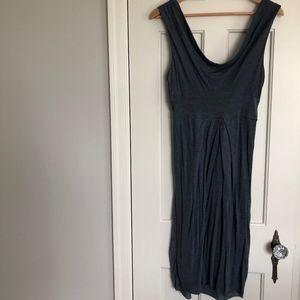 BCBG Light Blue Jersey Knee Length Dress